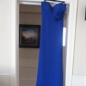 Fiesta royal blue strapless gown size: Large